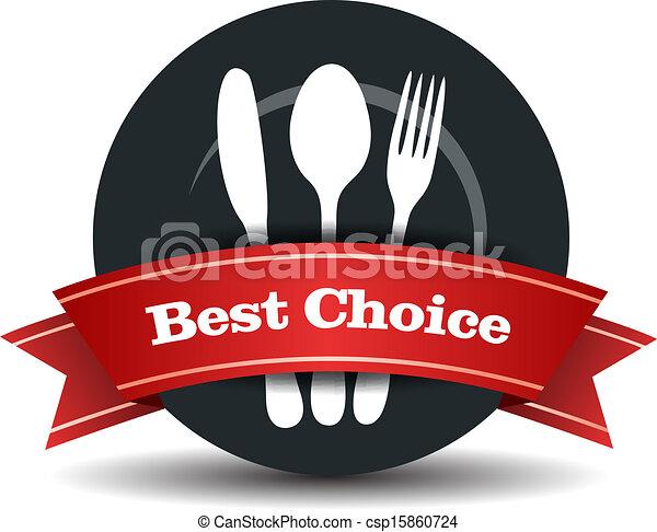 אוכל, איכות, תג, מסעדה - csp15860724