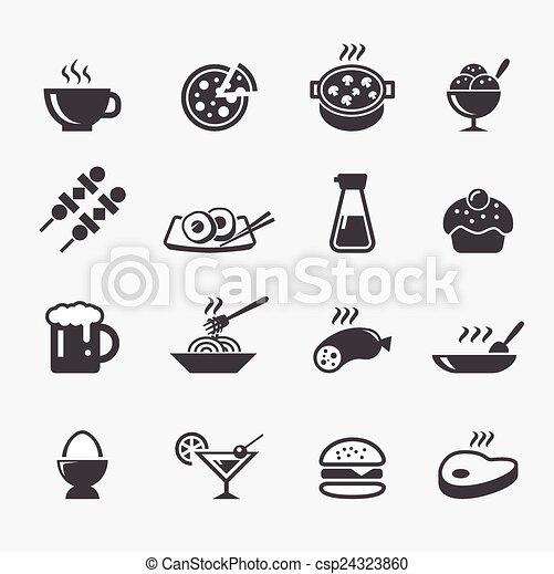 אוכל, איקון - csp24323860