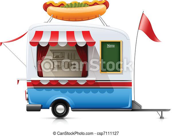 אוכל, חם, רכב נגרר, מהיר, כלב - csp7111127