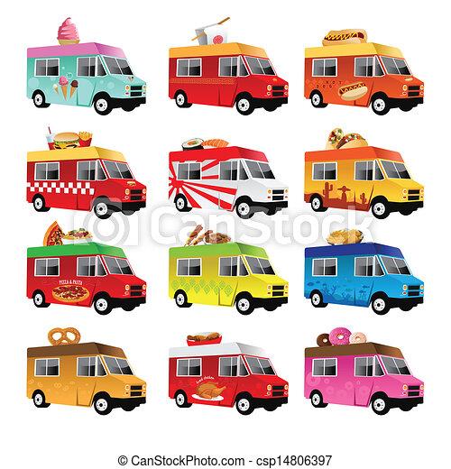 אוכל, משאית - csp14806397