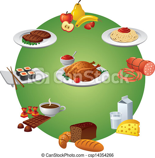אוכל, קבע, ארוחה, איקון - csp14354266
