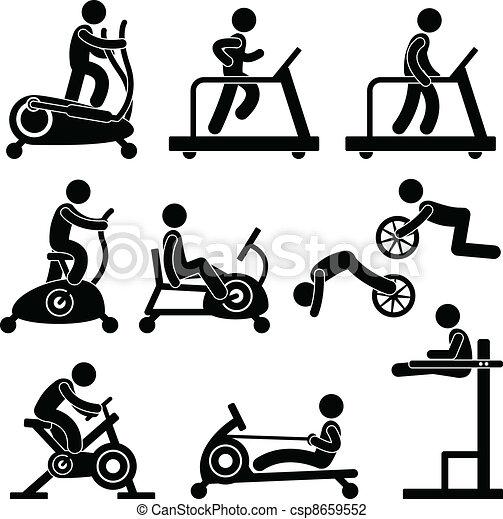אולם התעמלות, אולם התעמלות, התאמן, כושר גופני - csp8659552