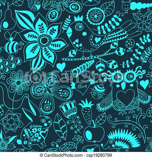 או, hedgehog., קיץ, template., רקע., pattern., יער, רקע, טקסטורות, רשת, תבנית, שפן, עמוד, פרפר, seamless, וקטור, רקע, design., נייר, זה, ינשוף, מארג, פרחוני, התגלה, התמלא, השתמש - csp19280799