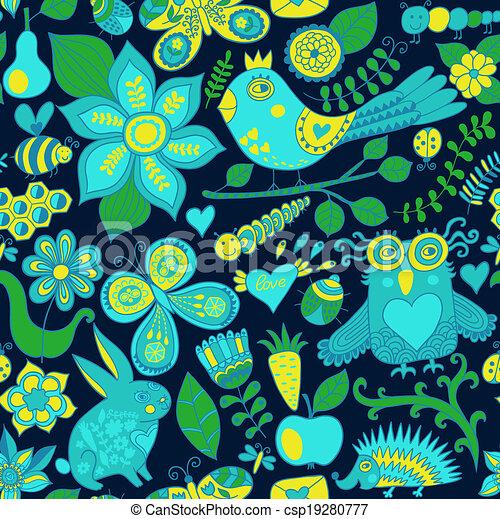 או, hedgehog., קיץ, template., רקע., pattern., יער, רקע, טקסטורות, רשת, תבנית, שפן, עמוד, פרפר, seamless, וקטור, רקע, design., נייר, זה, ינשוף, מארג, פרחוני, התגלה, התמלא, השתמש - csp19280777