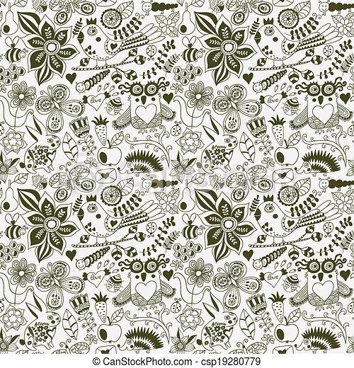 או, hedgehog., קיץ, template., רקע., pattern., יער, רקע, טקסטורות, רשת, תבנית, שפן, עמוד, פרפר, seamless, וקטור, רקע, design., נייר, זה, ינשוף, מארג, פרחוני, התגלה, התמלא, השתמש - csp19280779