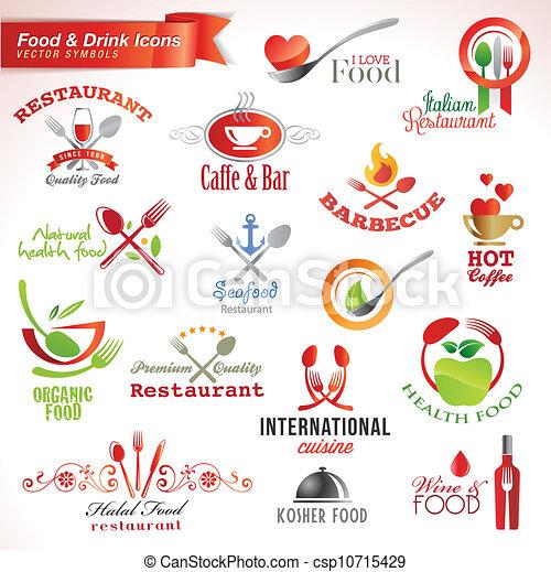איקונים, קבע, אוכל, שתה - csp10715429