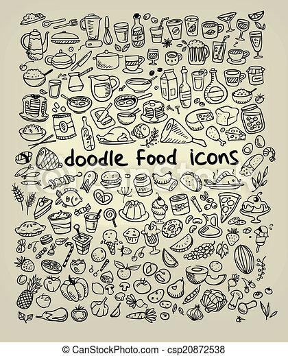 איקונים של אוכל - csp20872538