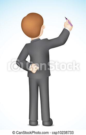 איש, לכתוב, עסק, טופס - csp10238733