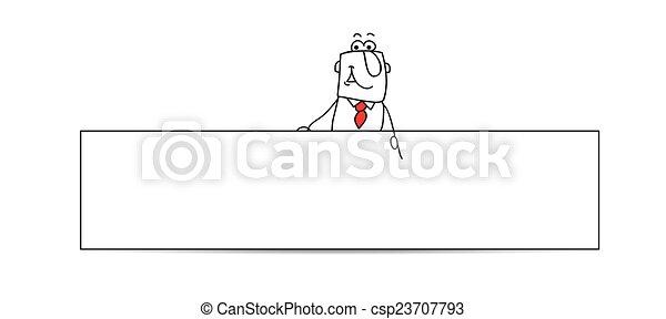 איש עסקים, אופקי, דגל - csp23707793