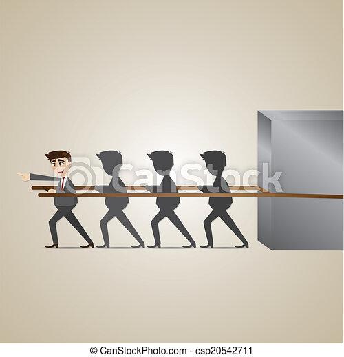 איש עסקים, הנהגה, ציור היתולי - csp20542711