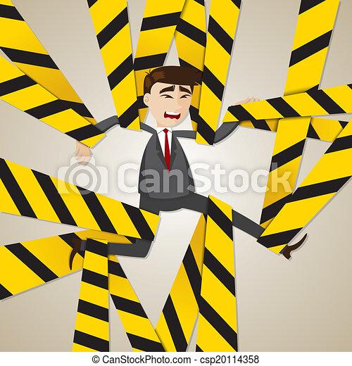 איש עסקים, סבך, ציור היתולי - csp20114358