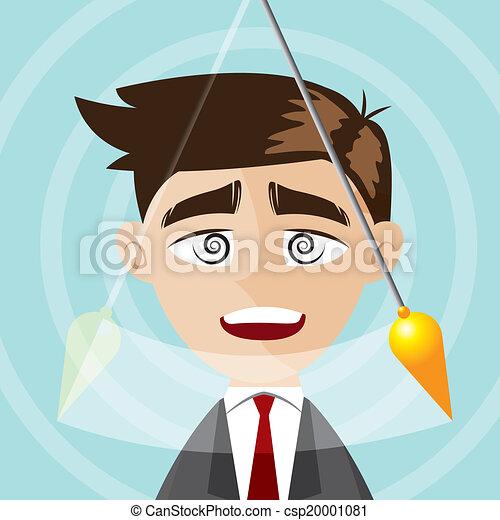 איש עסקים, ציור היתולי, הפנט - csp20001081