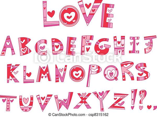 אלפבית, אהוב - csp8315162