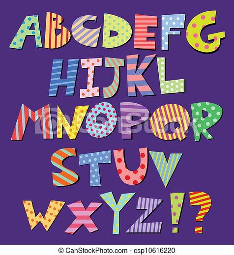 אלפבית, עיתון מצויר - csp10616220