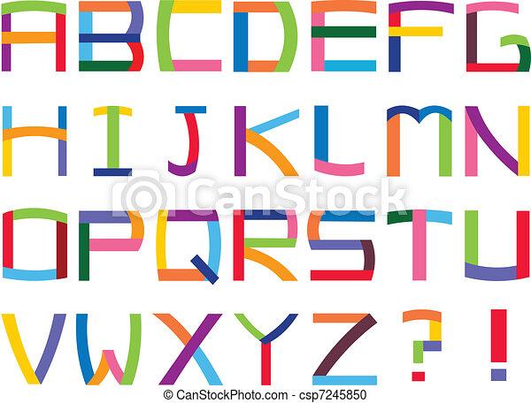 אלפבית, צבעוני - csp7245850
