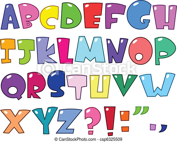 אלפבית, ציור היתולי - csp6325509