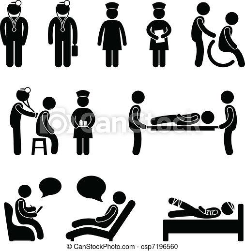 אמון חולה, בית חולים, חולה, רופא - csp7196560