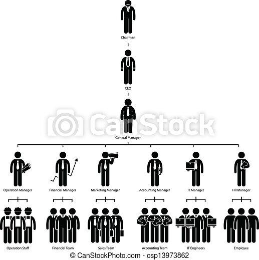 ארגון, חברה, עץ, שרטט - csp13973862