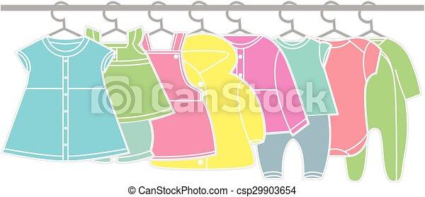 בגדים של תינוק - csp29903654