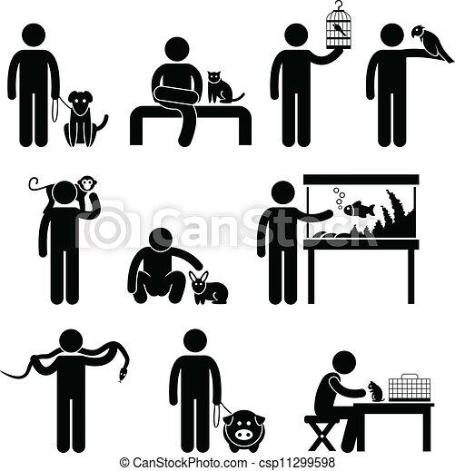 בן אנוש, חיות בית, פיכטוגראם - csp11299598