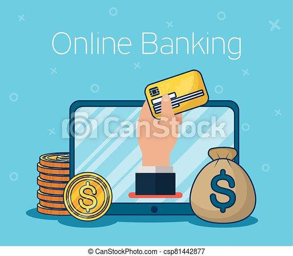 בנקאות אונליין, טכנולוגיה, קדור - csp81442877