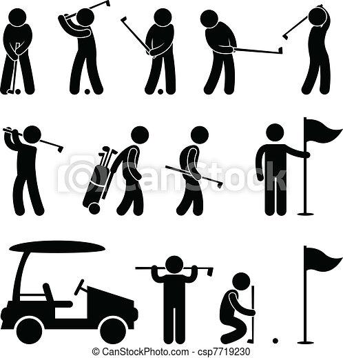 גולף, שחקן גולף, כאדדי, התנדנד, אנשים - csp7719230