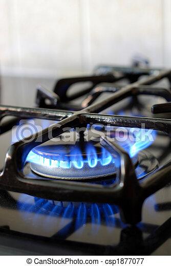 גז, להשרף, תנור, מטבח - csp1877077