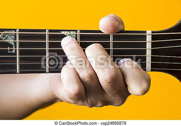 גיטרה, *c*, אקורד, עקרי - csp24895879
