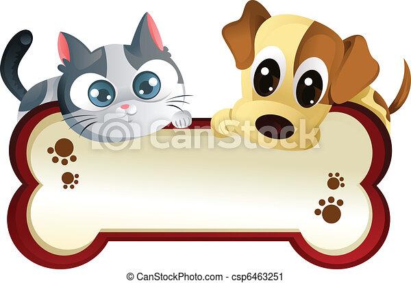 דגל, כלב, חתול - csp6463251