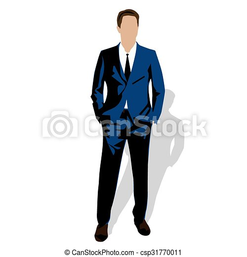 דוגמה, איש, עסק, וקטור - csp31770011