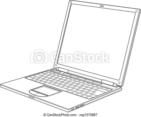 דוגמה, מחשב נייד, וקטור, תאר - csp1570887