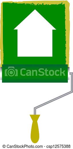 דיר צבע, מוט גלילי, איקון - csp12575388