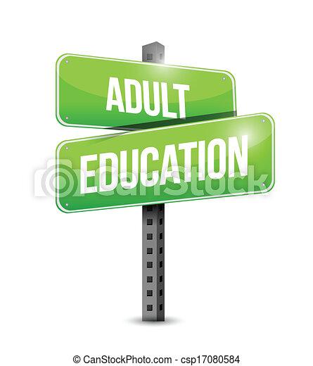 דרך, חינוך, מבוגר, דוגמה, חתום - csp17080584
