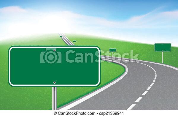 דרך, לסבב, סימנים, כמה - csp21369941