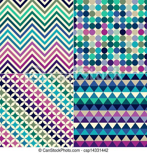 הדפס, תבנית, seamless, גיאומטרי - csp14331442