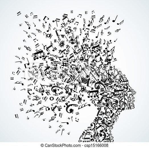הובל, התז, מוסיקה רואה, אישה - csp15166008
