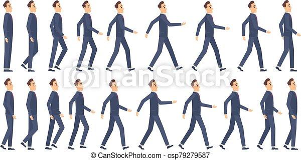 וקטור, 2d אנימציה, משחק, animation., הקלד, קמיע, ללכת, אותיות, שדון, ציור היתולי, מסגרות, עסק - csp79279587