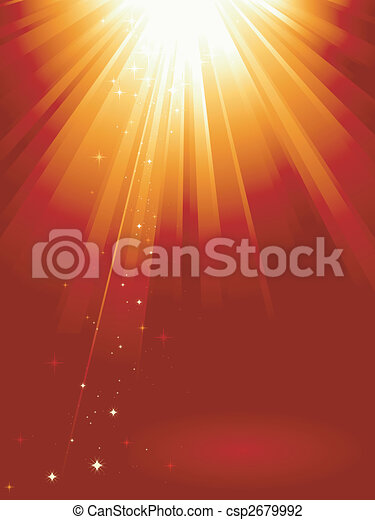 זהוב, אור, אדום, כוכבים, התפוצץ - csp2679992