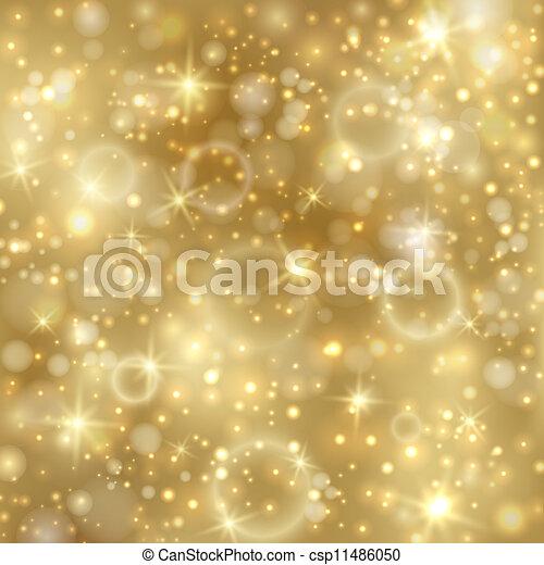זהוב, twinkly, כוכבים, רקע, אורות - csp11486050