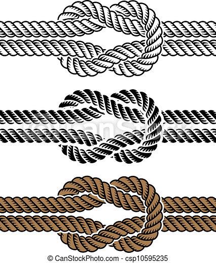 חבל, סמלים, וקטור, שחור, קשר - csp10595235