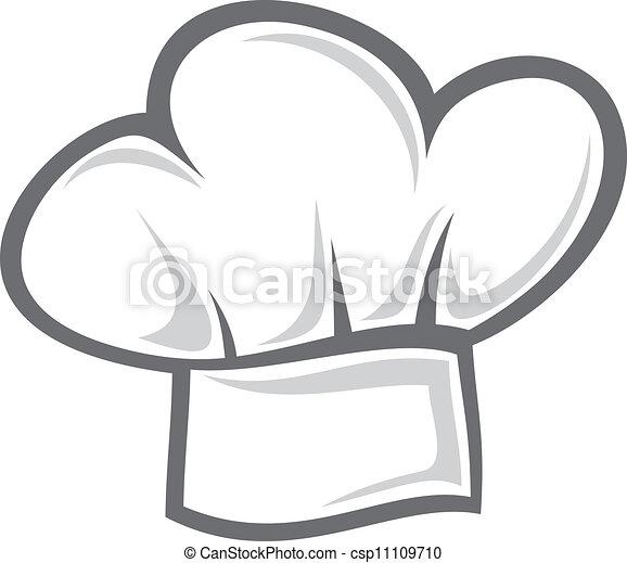 טבח, כובע לבן - csp11109710