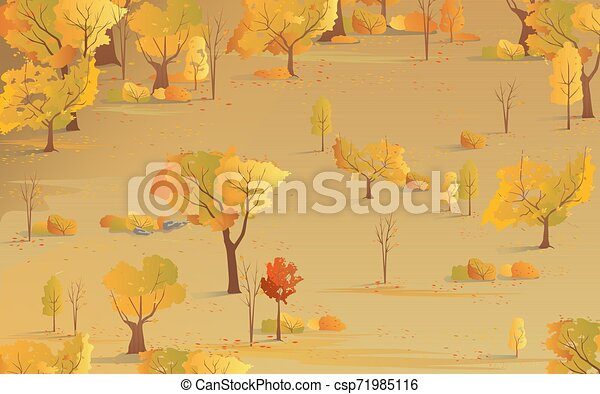 טבעי, תבל, צהוב, סתו, רקע., עלווה, נפול - csp71985116