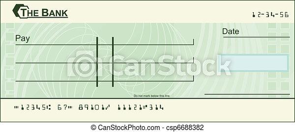 טופס, דוגמה, המחאה - csp6688382