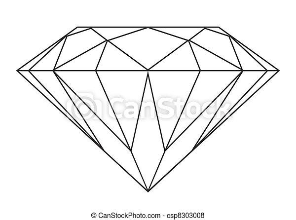 יהלום, תאר - csp8303008