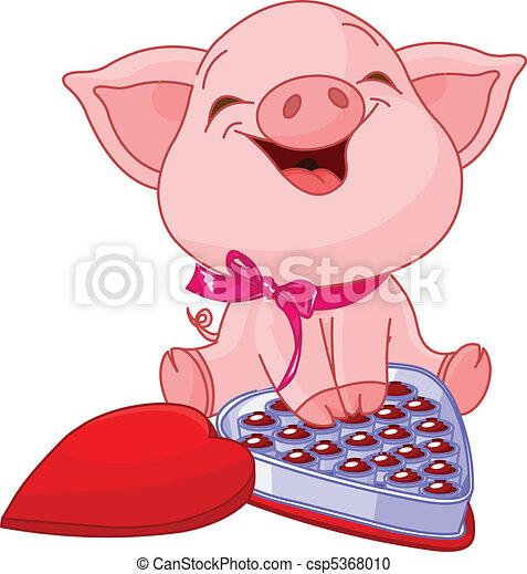 יום, יפה, ולנטיינים, חזיר - csp5368010