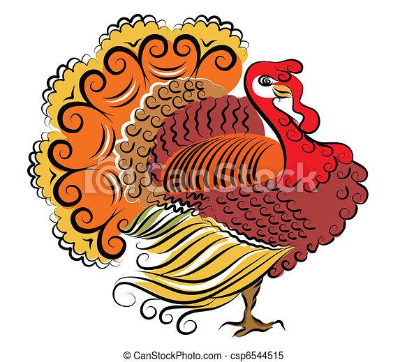 יום, צבע, turkey., וקטור, הודיה - csp6544515