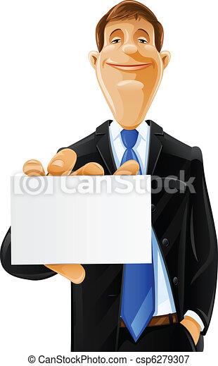 יפה, כרטיס, איש - csp6279307