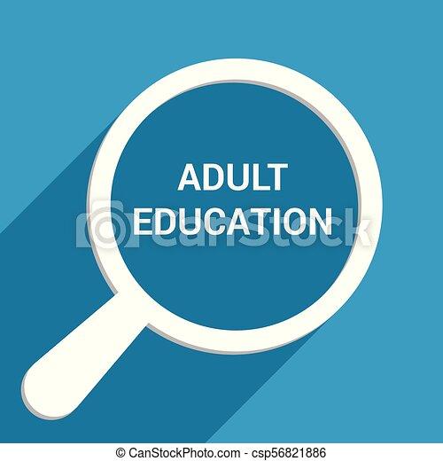 כוס, אופטי, מבוגר, מילים, חינוך, להגדיל, concept: - csp56821886