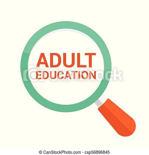 כוס, אופטי, מבוגר, מילים, חינוך, להגדיל, concept: - csp56896845