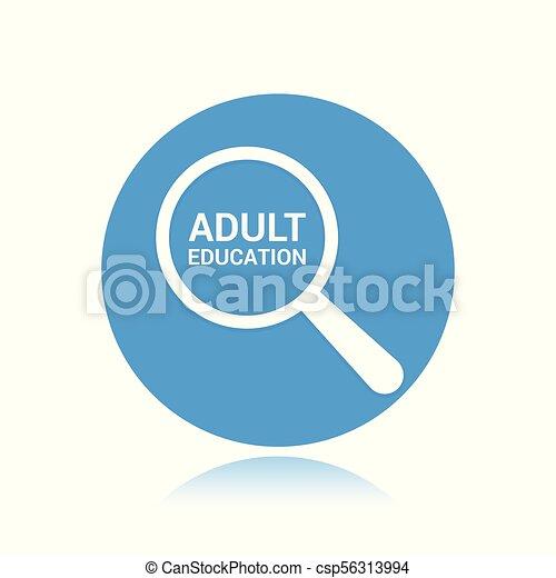 כוס, אופטי, מבוגר, מילים, חינוך, להגדיל, concept: - csp56313994